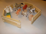 Wooden Toy Fence  Animal Combo
