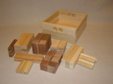 Wooden Crate With 54 Blocks