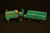 Wooden Tractor And Wagon