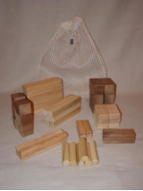 54 Piece Wooden Building Block Set