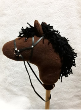 Brown Bay Stick Horse