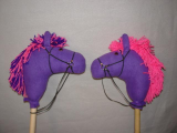 Purple And Pink Stick Horse