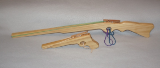 Wooden Rubber Band Rifle And Pistol Combo