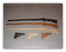 Handmade  Wooden Toy Rifle And Wooden Toy Pistol Combo