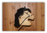 Brown Wooden Stick Horse  Black Mane