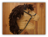 Brown Wooden Stick Horse Brown Mane