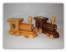 Wooden Train Bank