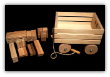 Wooden Wagon And 54 Block Set