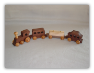 Handmade Wooden Walnut Train