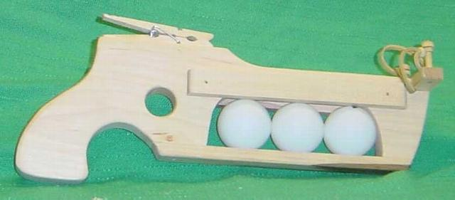 Wooden Ping Pong Ball Gun Toy